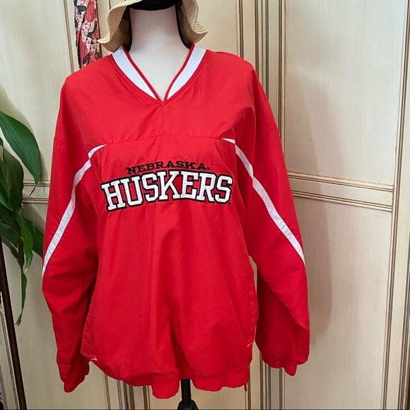 Vtg Starter Nebraska Cornhuskers pullover jacket